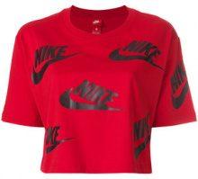 Nike - T-shirt con logo stampato - women - Cotton - XS - RED