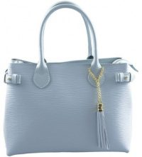 Borsette Dream Leather Bags Made In Italy  Borsa Donna A Mano In Vera Pelle Colore Azzurro - Pelletteria To
