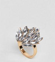 ASOS CURVE - Anello appariscente con pietra - Oro