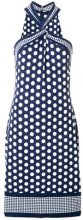 - Michael Michael Kors - Vestito con allacciatura al collo - women - viscose/Spandex/Elastane - M - Blu