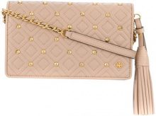 Tory Burch - fleming stud chain wallet - women - Leather - OS - NUDE & NEUTRALS