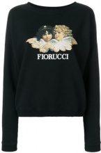 Fiorucci - Felpa con logo - women - Cotton - S, M, L, XS - BLACK