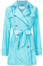 Michael Michael Kors - fitted trench coat - women - Polyester - S, L - BLUE