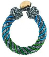 - Aurelie Bidermann - 'Maya' bracelet - women - Cotone/Silk/18kt Gold Plated Brass - Taglia Unica - Verde