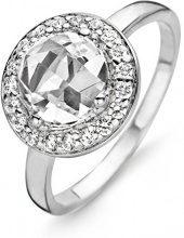 Orphelia 925 argento rodiato dreambase-anello con zirconi bianchi taglio rotondo - ZR-3766, Argento, 14, cod. ZR-3766/54
