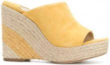 Paloma Barceló - Mules con zeppa 'Mamey' - women - Leather/Suede - 37, 38, 40, 41 - YELLOW & ORANGE
