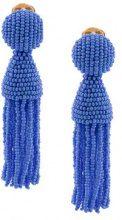 Oscar de la Renta - Orecchini pendenti di perline - women - glass/Brass - One Size - Blu