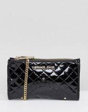 Versace Jeans - Pochette per uscire in vernice con tracolla - Nero