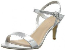 New Look Sheep Shimmer, Scarpe Col Tacco Punta Aperta Donna, Silver (Silver), 42 EU