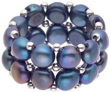 Pearls & Colors Donna    acciaio  Bottone Perla d'acqua dolce  Perla FASHIONRING