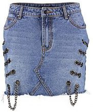 Helen Chain Detail Denim Skirt