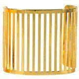 Bracciale rigido in metallo dorato, motivo traforato, gioiello fantasia, da donna