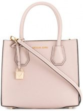 Michael Michael Kors - Borsa tote 'Mercer' - women - Leather - One Size - PINK & PURPLE