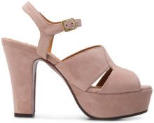 Chie Mihara - Sandali 'Xiro' - women - Leather/Suede/rubber - 37, 37.5, 38, 38.5, 39, 40 - NUDE & NEUTRALS