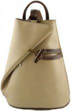 Zaini Dream Leather Bags Made In Italy  Zaino In Vera Pelle Per Donna Con Bretelle A Cerniera Colore Tau