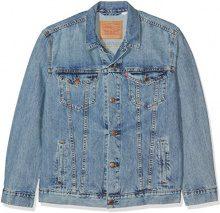 Levi's The Trucker Jacket, Giacca Uomo, Blu (Icy), Large