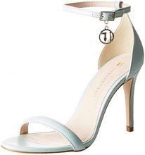 Trussardi Jeans Evening Minimal, Scarpe col Tacco con Cinturino alla Caviglia Donna, Turchese (Acqua Marine), 36 EU