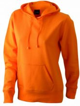 James & Nicholson Sweatshirt Hooded, Felpa Donna, Arancione (orange), Small