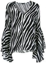 Tufi Duek - animal print blouse - women - Viscose - 46 - Nero