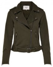 ONLY Canvas Biker Jacket Women Green