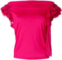 Givenchy - Blusa con ruches - women - Silk/Cotton/Viscose - XS, S, M - PINK & PURPLE