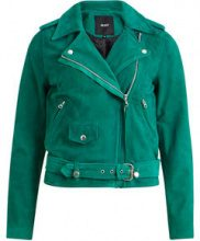 OBJECT COLLECTORS ITEM Real Leather Jacket Women Green