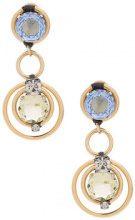 Radà - embellished clip earrings - women - Glass Fiber/Brass - One Size - METALLIC