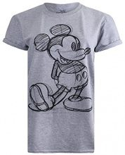 Disney Mickey Vintage, T-Shirt Donna, Grey, 42