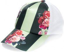 Golden Goose Deluxe Brand - Cappello da baseball a fiori con pannelli a contrasto - women - Polyester/Cotton - S - GREEN
