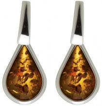 Nature d'Ambre 3130520 - Orecchini da donna in argento 925/1000 e ambra
