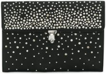 Alexander McQueen - Clutch a busta borchiata - women - Leather/metal - One Size - BLACK