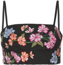 Josie Natori - embroidered bralette - women - Cotton/Spandex/Elastane - XS, S, M, L, XL - BLACK