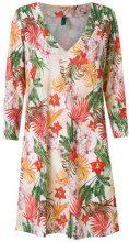 Lygia & Nanny - tropical print beach dress - women - Polyester/Spandex/Elastane - 40 - WHITE