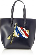 Tommy Hilfiger Th Effortless Tote Lrg Print - Borse Donna, Blau (Flag Print), 15x34x31 cm (B x H T)