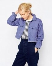 ASOS - Giacca stile camicia corta lavaggio effetto invecchiato