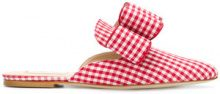 Polly Plume - Joe Le Taxi Betty bow mules - women - Cotton/Leather - 36, 37, 38, 41 - RED
