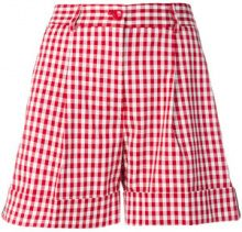 P.A.R.O.S.H. - Shorts a quadretti - women - Cotton/Polyurethane - XS, S - RED