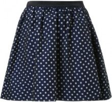 Guild Prime - polka dot pleated a-line short skirt - women - Cupro/Polyester - 36 - BLUE