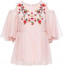 Blusa ricamata con spalle scoperte (rosa) - BODYFLIRT