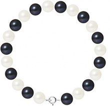 Pearls & Colors Bracciale intrecciato Donna argento 925_argento perla rotonda - AM17-BRA-AG-R89-AR-WHBL