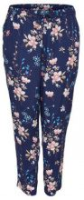 ONLY Curvy Printed Trousers Women Blue