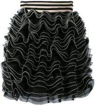 Alexander McQueen - knitted ruffle mini skirt - women - Silk/Polyamide/Polyester/Viscose - XS - BLACK