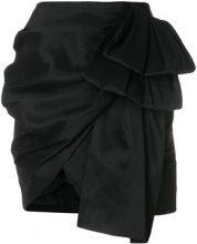 Magda Butrym - Minigonna drappeggiata - women - Silk - 36, 38, 40, 34 - BLACK