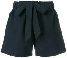 YMC - Shorts aderenti sartoriali - women - Cotone/Linen/Flax - S - Blu