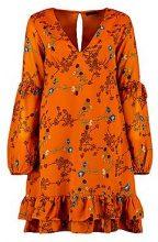 Aria V Neck Frill Detail Frill Dress