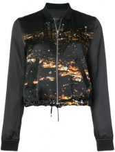 Barbara Bui - city lights bomber jacket - women - Silk - 38, 40 - BLACK
