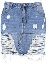 Plus Gemma Gem Detail Rip Skirt
