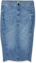 United Colors of Benetton Skirt, Gonna Donna, Blu (Blue 902), 48