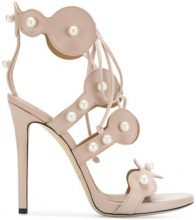 Marc Ellis - pearl-embellished sandals - women - Leather - 35.5, 36.5, 37, 37.5, 38, 38.5, 39, 40 - NUDE & NEUTRALS