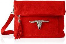 Chicca Borse 8651, Borsa a Spalla Donna, Rosso (Red), 28x22x5 cm (W x H x L)